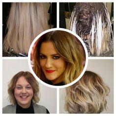 Caroline Flack inspired hair by Annemarie