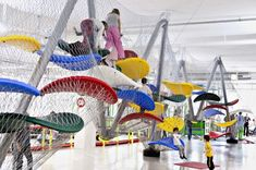Climber found in Formel Fun, Bulach, Switzerland, by Luckey LLC. The Luckey company has been making these unique, climbable structures for m. Playground Design, Indoor Playground, Play Spaces, Learning Environments, Imaginative Play, Climbers, Kids Learning, Kids Playing, Playroom