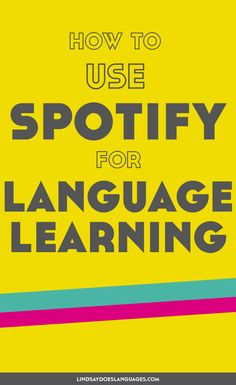 How to Use Spotify for Language Learning If music be the food of language learning, play on. From language courses to comedy, here's how to use Spotify for language learning. Language Study, Spanish Language Learning, Learn A New Language, Dual Language, Sign Language, Language Arts, Learn German, Learn French, Learn English