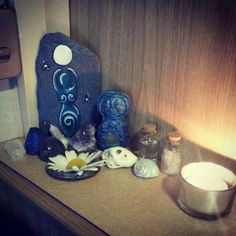 Corner Altar space- simple - Pinned by The Mystic's Emporium on Etsy