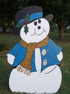 Christmas Snowman yard decorations yard art.
