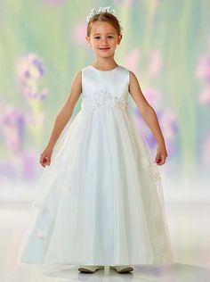 a45581990bf Joan Calabrese Flowergirl Dress by Mon Cheri style 118320 available for  online purchases.
