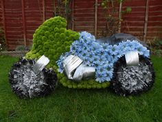 Motor Bike Floral Tribute available at www.floralfusions.com for £105.00 and delivered anywhere in UK