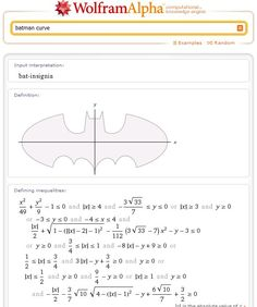Technology Made Easy: Plot Batman Logo in Google Search and Wolfram Alpha