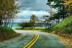 South Scenic Drive at Muskegon State Park, Michigan