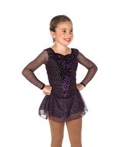 NEW DANCE Skate Dress Gold Foil Embossed Navy Velvet Mesh Skirt Ladies//Child Sz