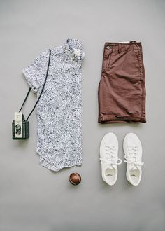 The park is calling our name and Gap's solid beach shorts and Lived-in shirt are…