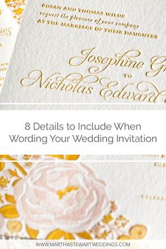 How to Write Your Wedding Invites: Don't overlook the basics when designing your wedding stationery. Wedding Invitation Wording, Invites, Wedding Couples, Our Wedding, Wedding Etiquette, Flower Lights, Whimsical Fashion, Martha Stewart Weddings, Photo Location