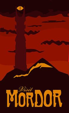 The style of vintage travel posters and Lord of the Rings - it doesn't get much better than this!