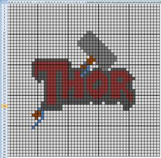 Another Free Thor Cross Stitch Pattern