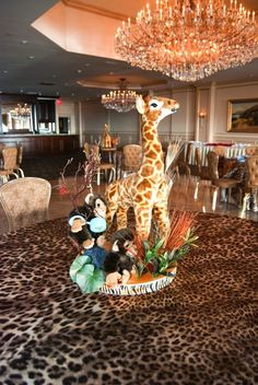 Jungle Themed Baby Shower Centerpiece!  I so have to do this!!  How adorable. <3  I think I'm getting a little too excited about becoming an aunt lol.