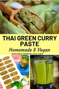 Vegetarian, vegan and gluten free Homemade Thai Green Curry Paste recipe using all fresh ingredients in few quick steps. Vegan Thai Green Curry, Thai Green Curry Paste, Vegetarian Curry, Vegan Curry, Vegetarian Recipes Easy, Curry Recipes, Indian Food Recipes, Vegetarian Appetizers, Thai Recipes