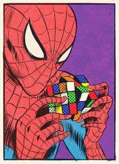 Spiderman is playing with a Rubik's cube With great power comes great responsibility. Spider-Man illustrated by Artur Harant :: via Disney Marvel, Marvel Art, Marvel Heroes, Amazing Spiderman, Bd Comics, Marvel Comics, Spiderman Kunst, Spiderman Spiderman, Comic Books Art