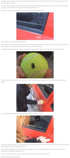 awesome If Use Ever Lock Your Keys In Your Car Use This Simple But Amazing Trick...  Lock pick hacks