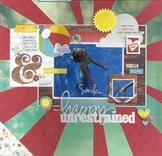 #papercraft #scrapbook #layout.  Happy Unrestrained - Scrapbook.com