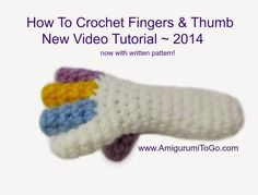 A brand new, 2014 tutorial for crocheting doll fingers and a thumb plus a new video too! I also include a written pattern this time, h...