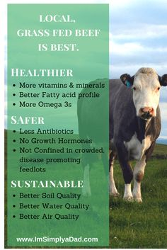 Local, grass fed beef is healthier, safer, and better for the environment.