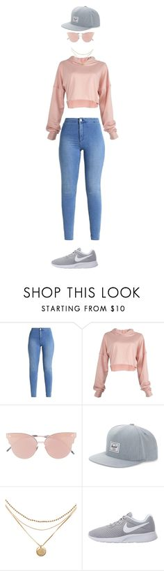 """blushing"" by mariahlittle72 on Polyvore featuring So.Ya, Herschel Supply Co. and NIKE"