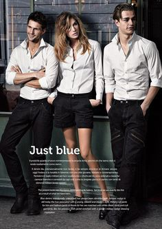 "From ""Giorgio Armani Male Models"" story by MommyFrazzled on Storify — http://storify.com/MommyFrazzled/giorgio-armani - Laurin Krausz & Tomas Skoloudik for Armani Jeans"