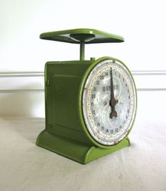 Vintage Kitchen Scale Green Way Rite Scale 25 By RiverHouseDesigns