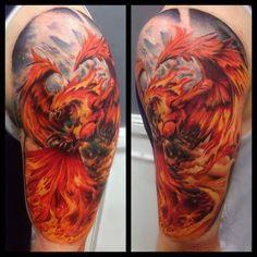 Phönix Tattoo Motiv