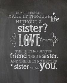 Sisters Chalkboard Print