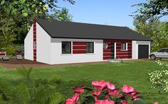 PPGI103 Design est un modèle de maison de style moderne. Elle possède 5 pièces pour une surface de 112 m². Gamme design - Maisons HCC