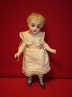 """Fabulous Antique All Bisque Doll 7 1 16 """" 18 cm s 3 H Mold 886 5 Strap Boots 