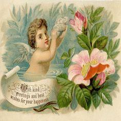 "Baby angel sea shell flower rose garden lake paradise pillow Cushion Cover 18"""
