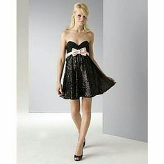 Betsey Johnson Evening Black Silk Bow Detailed Seq Fits like a dream. I felt so girly and pretty. It's short, but not too short. Zip closure and is silky smooth against the skin. Worn once and in excellent condition. Betsey Johnson Dresses Mini