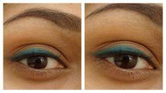 Simple matte teal eye by Get Gawjus.