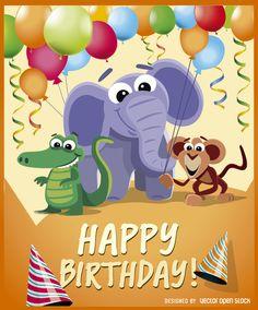 Animales salvajes fiesta de cumpleaños