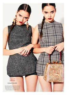 show & tell: the bloom twins by jonathan hallam for uk instyle august 2013 | visual optimism; fashion editorials, shows, campaigns & more!