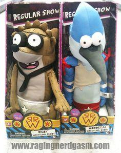 Cartoon Network's Regular Show Plush Mordecai and Rigby Wrestling Buddy's  by Jazwares https://www.flickr.com/photos/ragingnerdgasm/sets/72157631390427202/