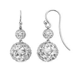 SLANE Basket Weave Sterling Silver Double Drop Earrings