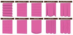 Types of Roman Shades-WOW never knew there was more than one type! Bahaha!