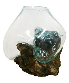 Look what I found on #zulily! Large Molten Glass & Wood Sculpture by Cohasset Gifts & Garden #zulilyfinds