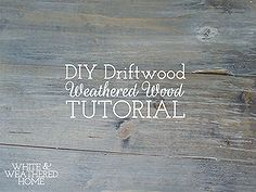 diy driftwood weathered grey wood finish tutorial, diy, how to, painted furniture, storage ideas, woodworking projects, DIY Driftwood An easy tutorial on how to achieve that Driftwood Weathered Wood Finish that s on barn wood tables and other coastal furniture