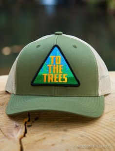 1e66265019218 Snapback Hat with To The Trees Patch - Moss Green