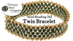 Twin bracelet class from The Potomac Bead Company that shows how to make a bracelet using Preciosa's two hole twin beads. http://www.potomacbeads.com http://...