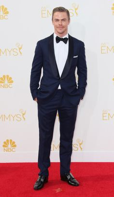 Derek Hough at the 2014 Emmy Awards. Styled by Anita Patrickson. Grooming by Riawna Capri.
