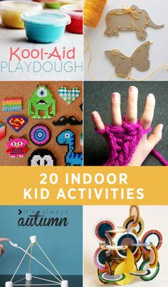 Snowy outside? Kids want to stay inside? Have no fear! These 20 indoor activities are great for learning and having fun when the weather outside is frightful.