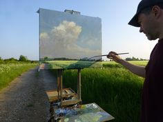 Roy Connelly painting Barley Field  http://www.jacksonsart.com/blog/2014/05/22/roy-connelly/