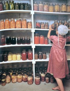 Olden Days : What is for Lunch? » Girl in Pantry picture from Cooking from Quilt Country