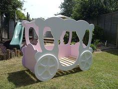 NEW Girls PRIMER CARRIAGE BED Single 3 DIY Princess cinderella dream character