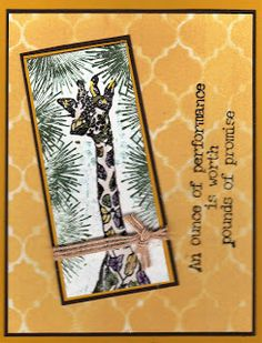 Judy's Stamp Art: Performance Giraffe