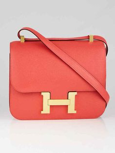 Authentic Hermes Rose Jaipur Epsom Leather Gold Plated Constance Bag at  Yoogi s Closet. e542b6a1e8284
