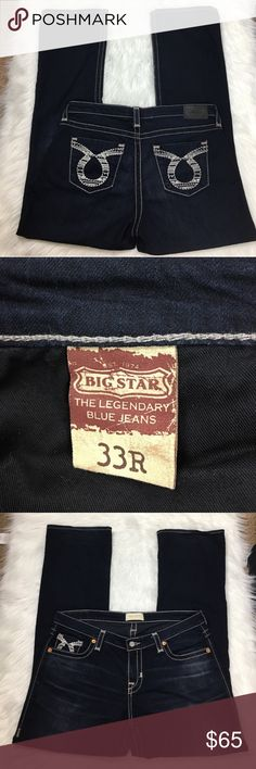 Big star Maddie boot cut jeans 33R Excellent condition, reposhing because they didn't fit right. 33' waist; would fit a size 14 women's. No rips or stains. Big Star Jeans