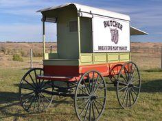 wagon wheel cart | Butcher Delivery Wagon