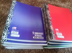 Interactive Notebooks:  duck tape spiral notebooks  First Grade is a Treat!